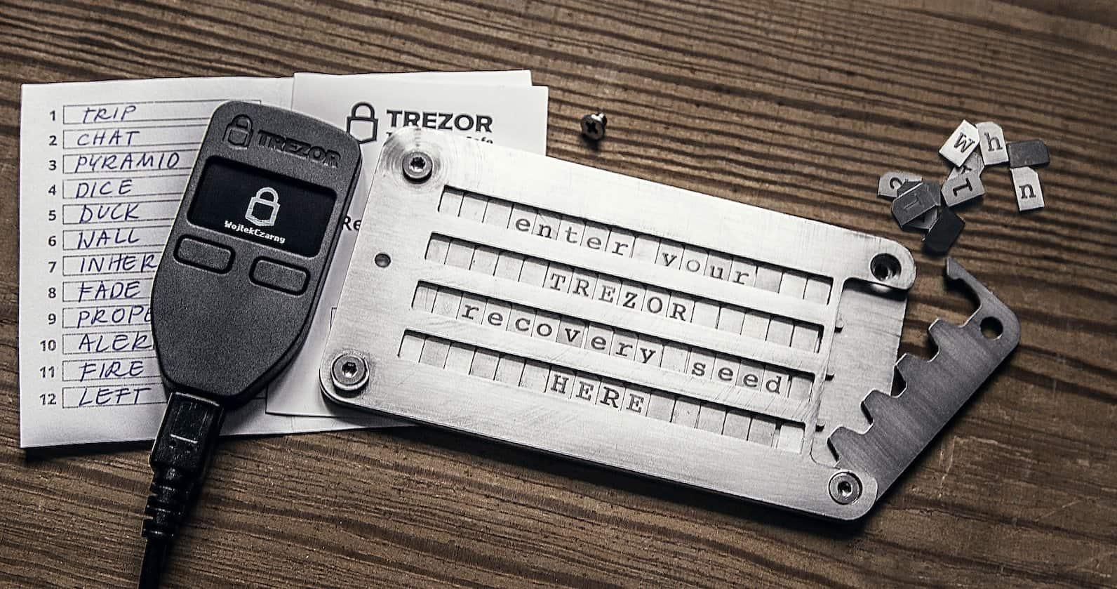 TREZOR + Cryptosteel
